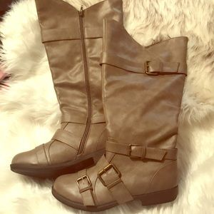 Shoes - Extra Wide, Faux Leather, ZIP up Boots